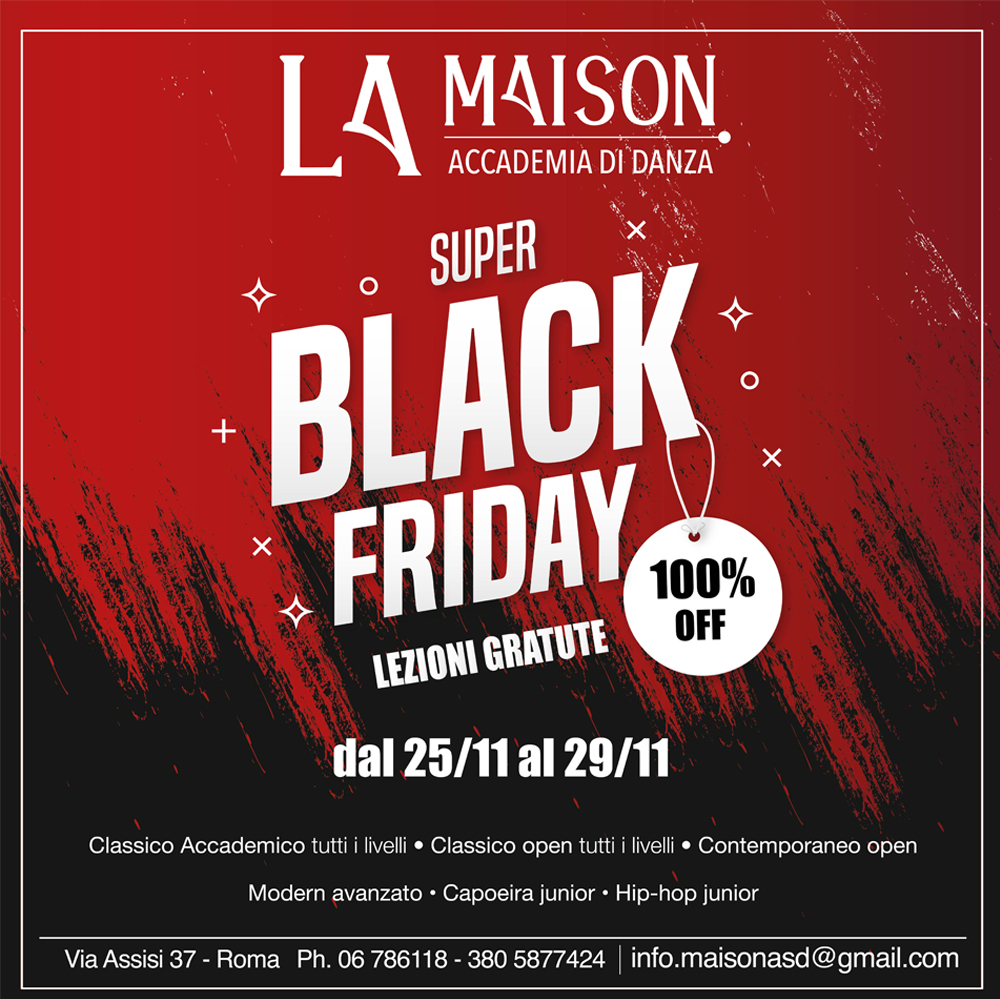 Super Black Friday – Lezioni gratuite